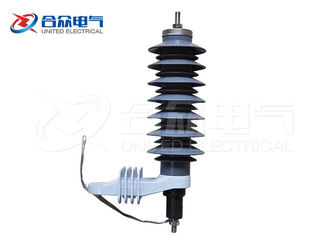 China Varistor Gapped Metal Oxide Lightning Surge Arrester Polymer Housed Light Weight supplier